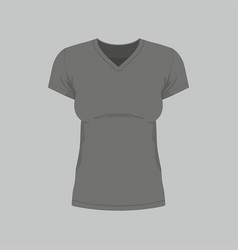 womens black t-shirt vector image