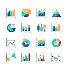 business data market infographic elements icons vector image vector image
