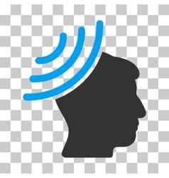 Radio Reception Mind Icon vector image