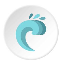 twist wave icon circle vector image vector image
