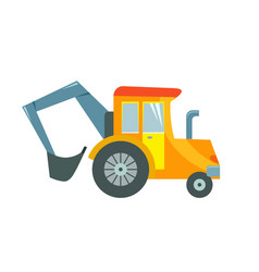 a toy tractor on a white vector image vector image