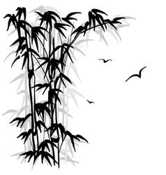 Bamboo silhouette vector image vector image