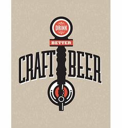 Craft Beer Design vector image