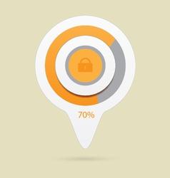 lock icon preloader vector image