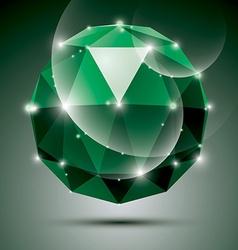 stylish shiny emerald effect eps10 Gala 3 vector image vector image