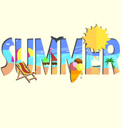 summer card theme vector image vector image