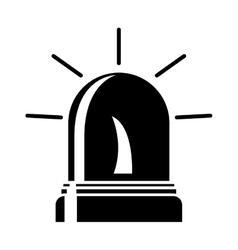 black silhouette Fireman siren icon vector image