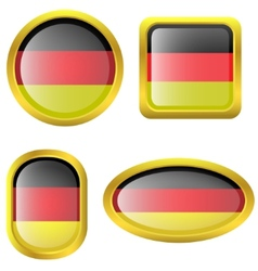Germany flag icons vector image vector image