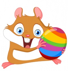 hamster and Easter Egg vector image