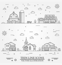Neighborhood with buildings on white vector