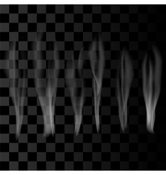 Smoke Set on Checkered Background vector image