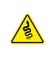 snake warning sign yellow venomous serpent hazard vector image vector image