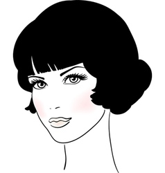 Beautiful Cute Girl Face vector image