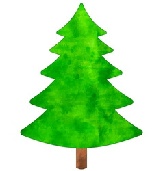 Christmas watercolor tree vector image