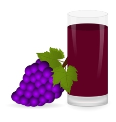 grapes and fruit juice vector image vector image