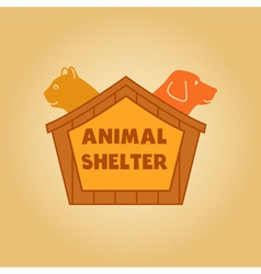 icon logo for an animal shelter Dog and a cat in a vector image