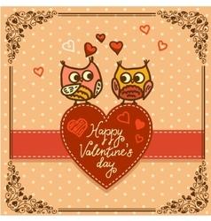 little owls pattern vector image vector image