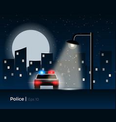 police car concept vector image