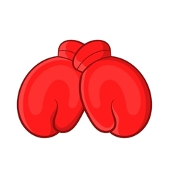 Red boxing gloves icon cartoon style vector image