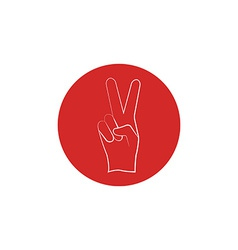 Red sign of victory of the fingers the political vector image vector image