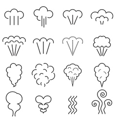 Steam icons vector image vector image