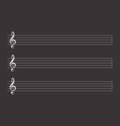 a musical score vector image