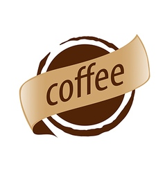 Abstract logo imprint coffee vector