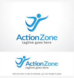 action zone logo template design vector image