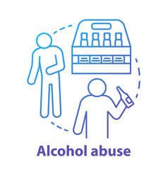 Alcohol abuse concept icon alcoholic dependence vector