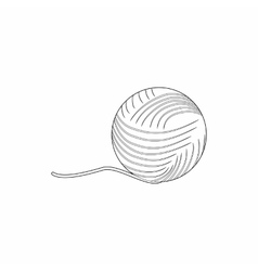 Ball of yarn icon outline style vector image