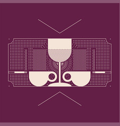 bar graphic linear geometric pattern background vector image