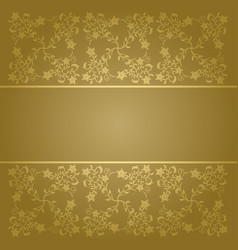 Baroque background with flowers vector