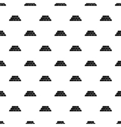 Bars or bullions pattern simple style vector