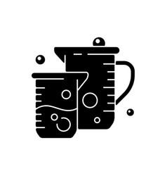 beaker black glyph icon vector image