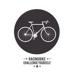 Bike cycle bicycle racing challenge yourself icon vector