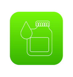 canister engine oil icon green vector image