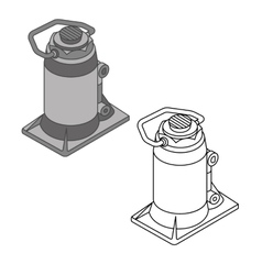 Car jack spare parts set vector