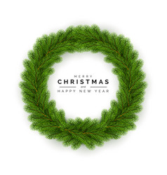 Christmas wreath holiday decoration element vector