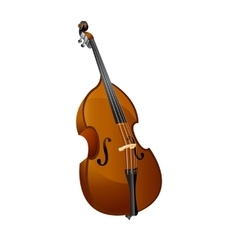 classical contrabass isolated object vector image