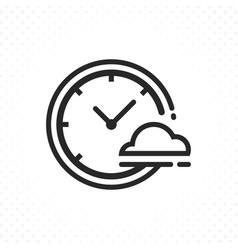 clock weather icon vector image