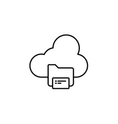 cloud iot internet of things icon and symbol vector image