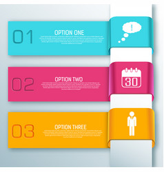 Colorful infographic web ribbon horizontal banners vector