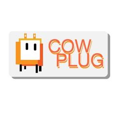 Cow plug logo vector