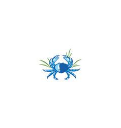crab logo icon vector image