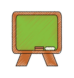 Cute blackboard cartoon vector