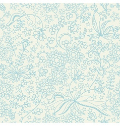 Cute seamless pattern with flowers stars and vector