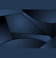 dark blue abstract wavy corporate background vector image