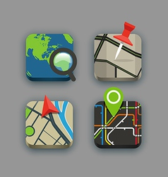 Different travel icons set with rounded corners vector image