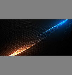 Digital flowing particles technology background vector