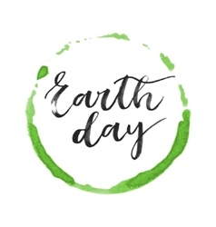 Earth day hand written inscription vector image